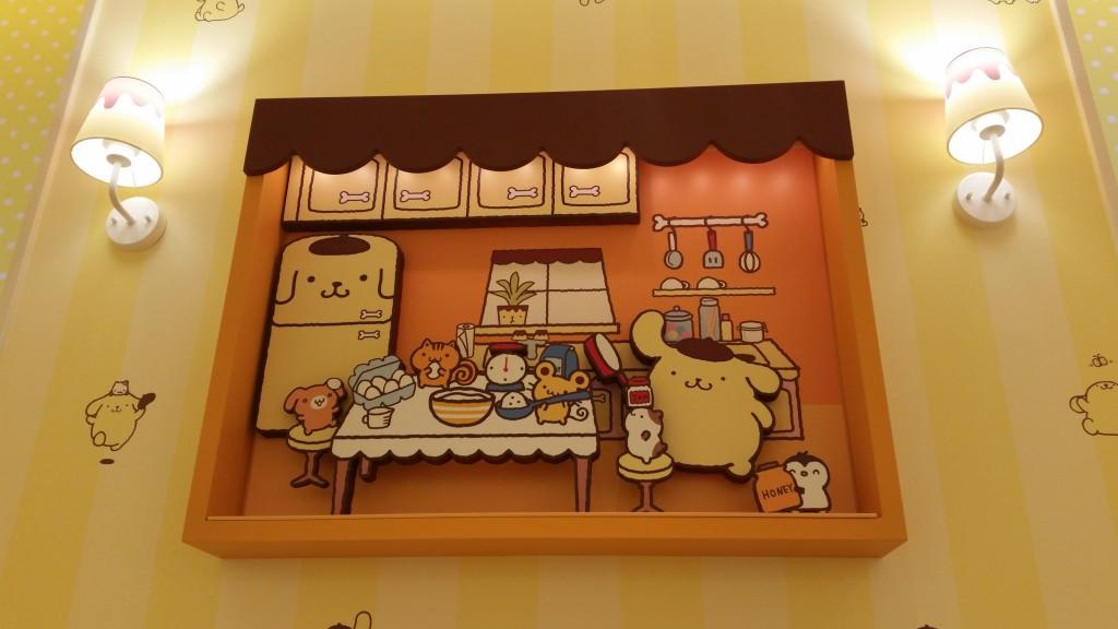 キャラクターカフェ壁の絵