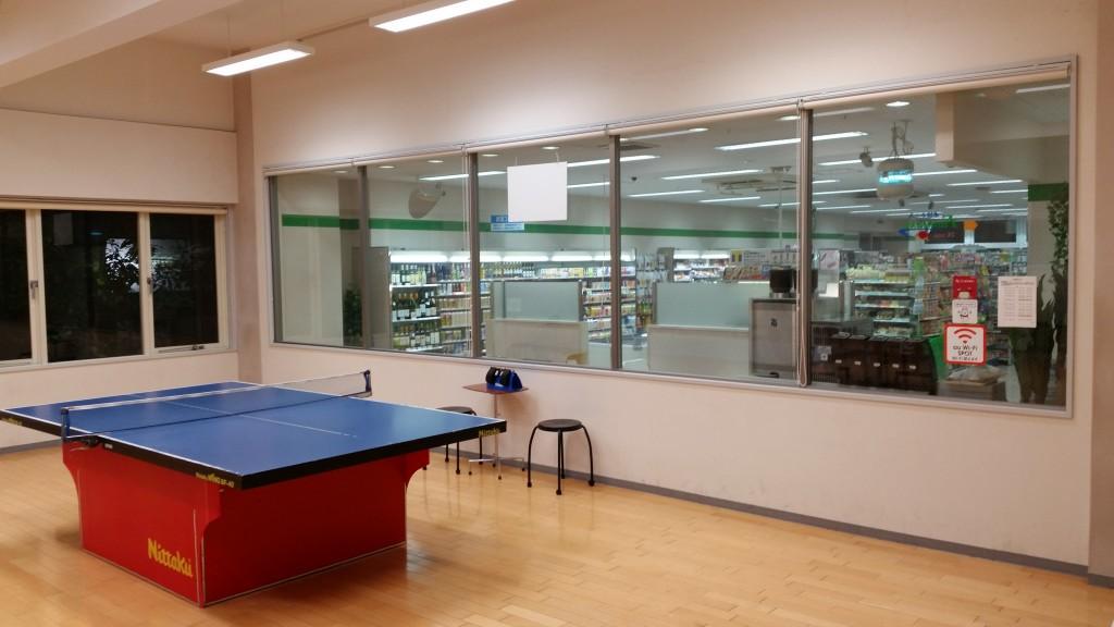 ファミリーマートと卓球の併設店