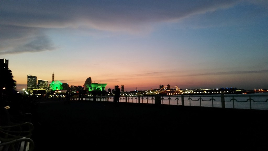 山下公園の夕焼け