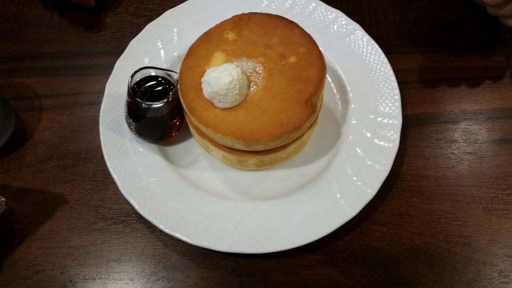 星野珈琲のパンケーキ