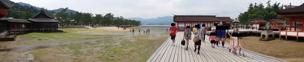 厳島神社から見た宮島の大鳥居