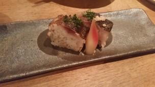 恵比寿くおんの鯖寿司