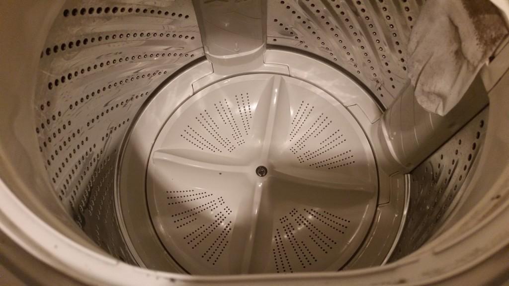 綺麗になった洗濯槽