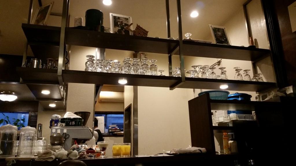 カフェパウリスタのお洒落なカウンター