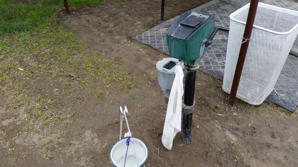 利根ゴルフ場にはボールを洗う設備もあり