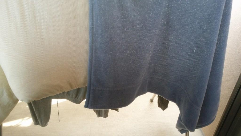 スペシャルゾーンに干された洗濯物
