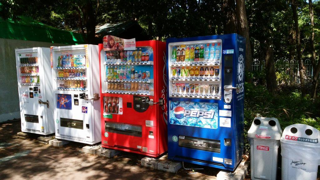 もりの遊園地の自動販売機