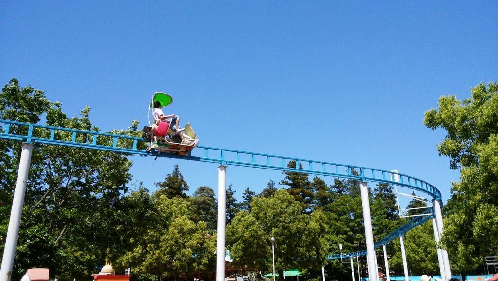 サイクルモノレールの景色