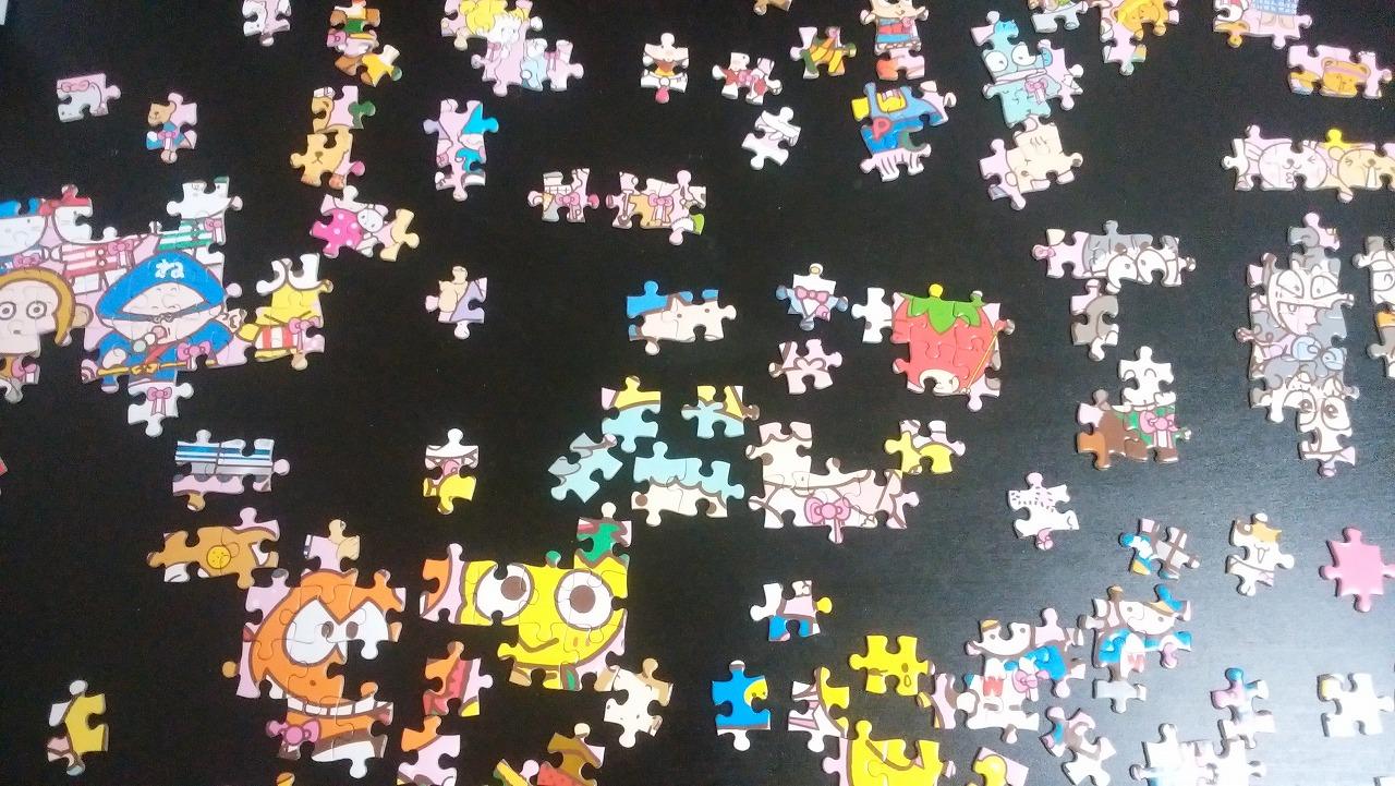 サンリオパズルを作る1日目