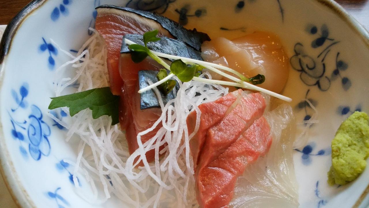 魚可津ご膳の刺身