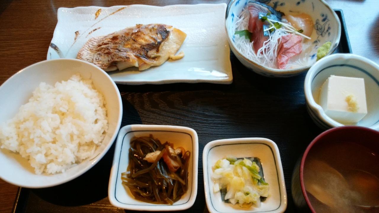 魚可津の鯛の味噌漬焼き定食
