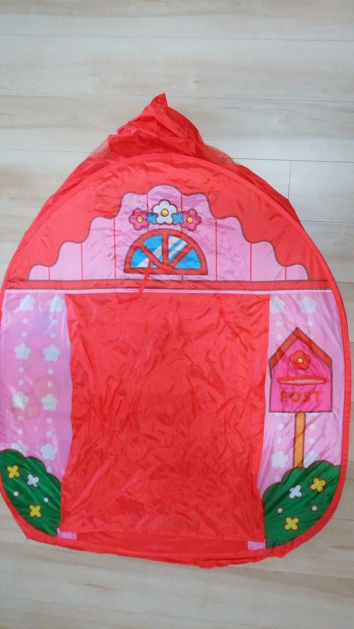 ボールプールハウスのテントは最初は小さい