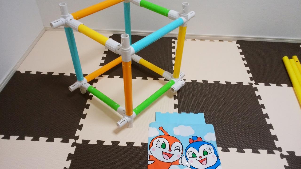 アンパンマン うちの子天才 カンタン折りたたみブランコパークDXの作り方2