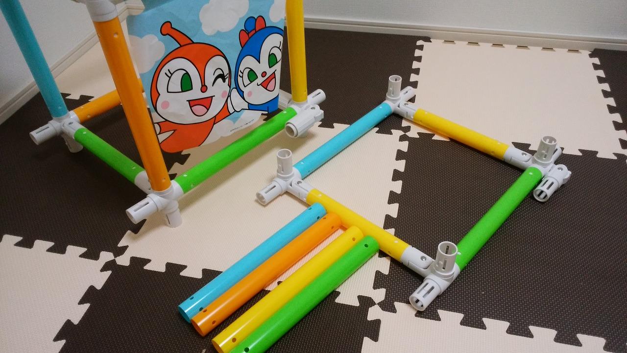 アンパンマン うちの子天才 カンタン折りたたみブランコパークDXの作り方4