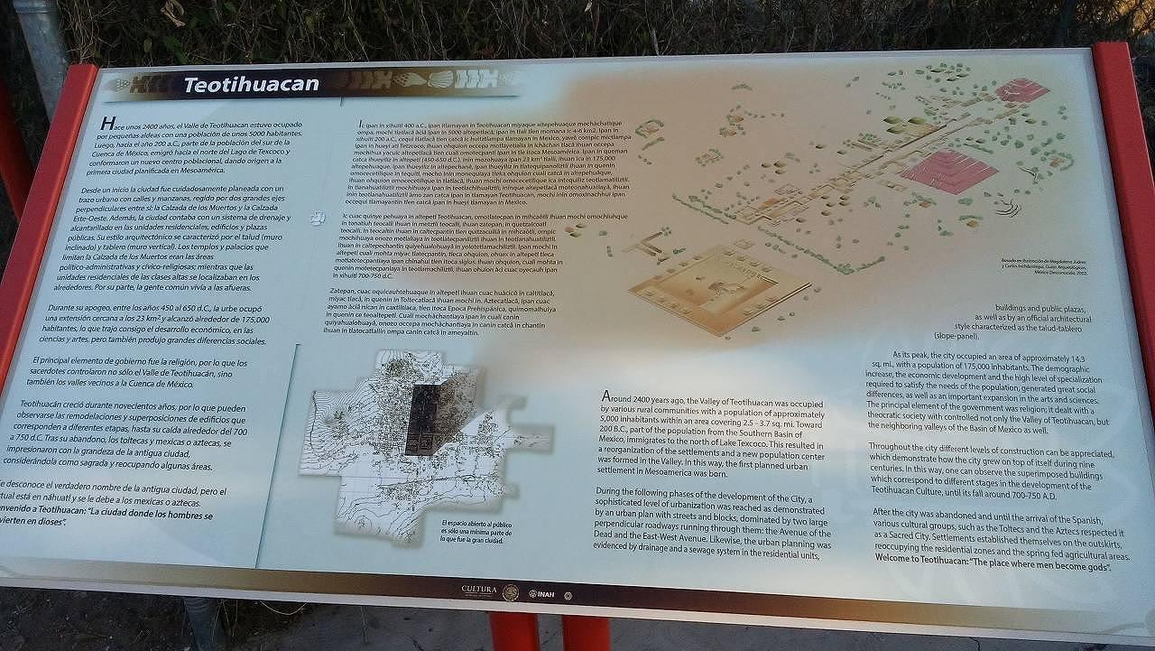 テオティワカン遺跡の地図