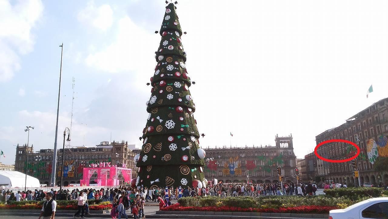 ソカロのクリスマスツリー