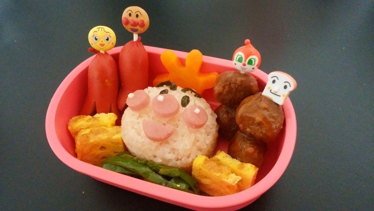 アンパンマンのキャラクター弁当の簡単レシピ