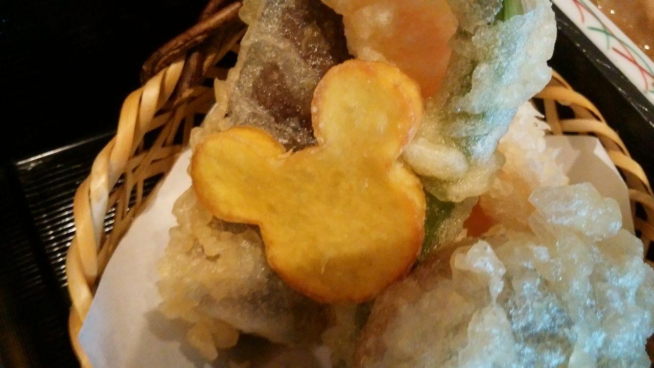 レストラン北斎の天ぷらはミッキー