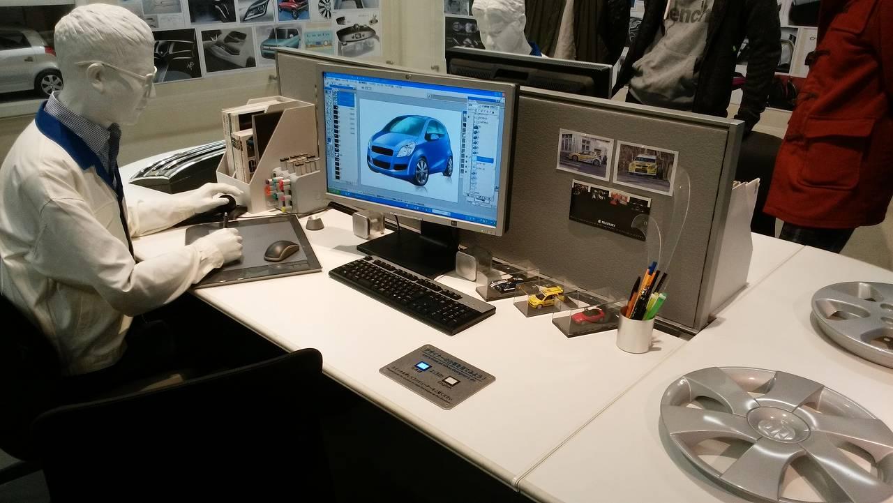 自動車デザイン作業現場