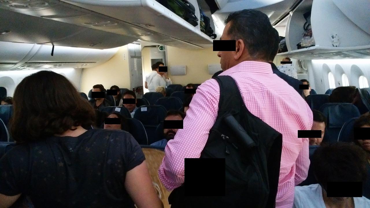 ANAボーイング787メキシコシティ便エコノミー席