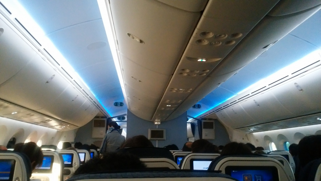 ANAボーイング787メキシコシティ便の機内は満席