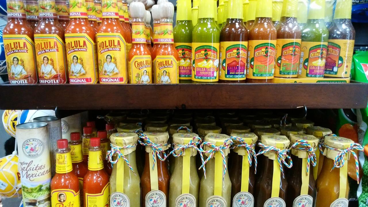 メキシコのお土産にたくさんのサルサソース