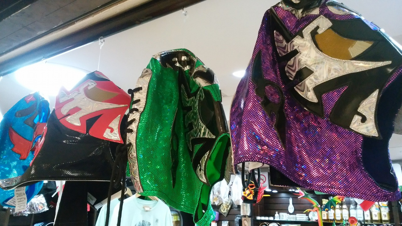 メキシコのお土産にプロレスのマスク