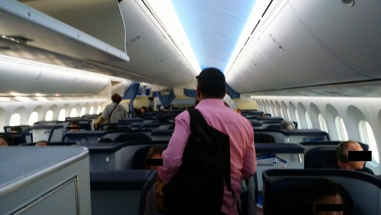 ANAボーイング787メキシコシティ便ビジネスクラス