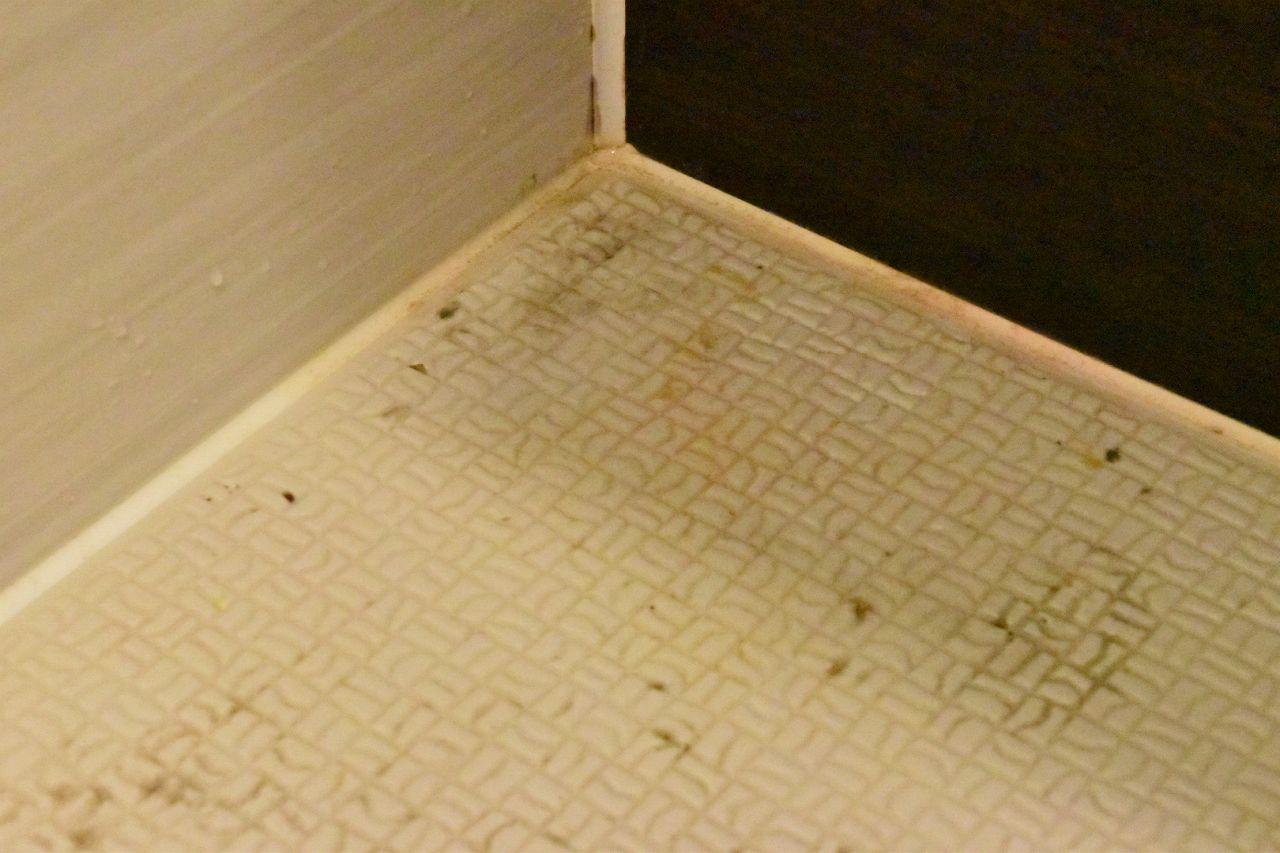お風呂の床の黄ばみカビ