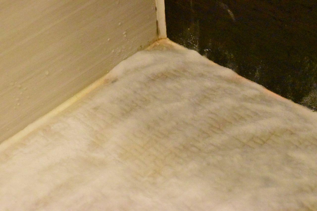 お風呂の床の黒ずみカビに重曹
