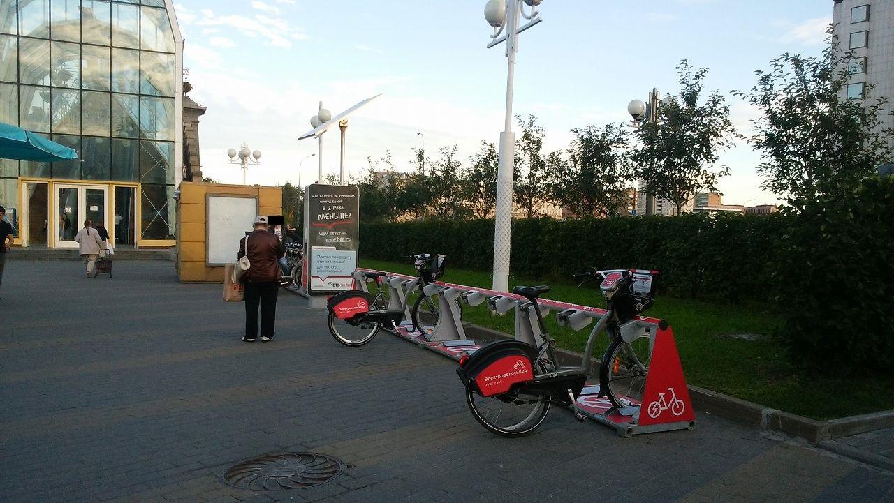 モスクワ市内の自転車