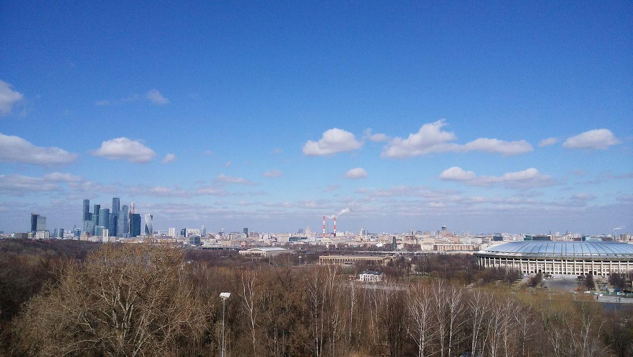 雀が丘のスパローヒルズからの眺望