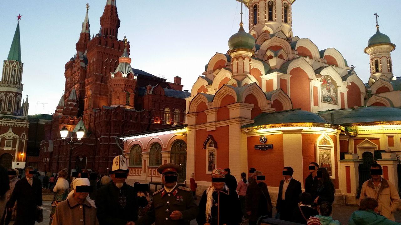 ロシアっぽい記念撮影