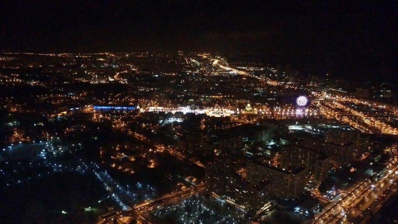 オスタンキノタワー最上階からの夜景