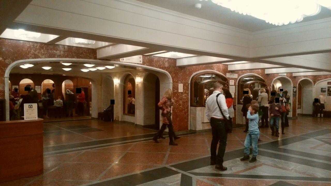 トレチャコフ美術館のチケット売り場とクローク