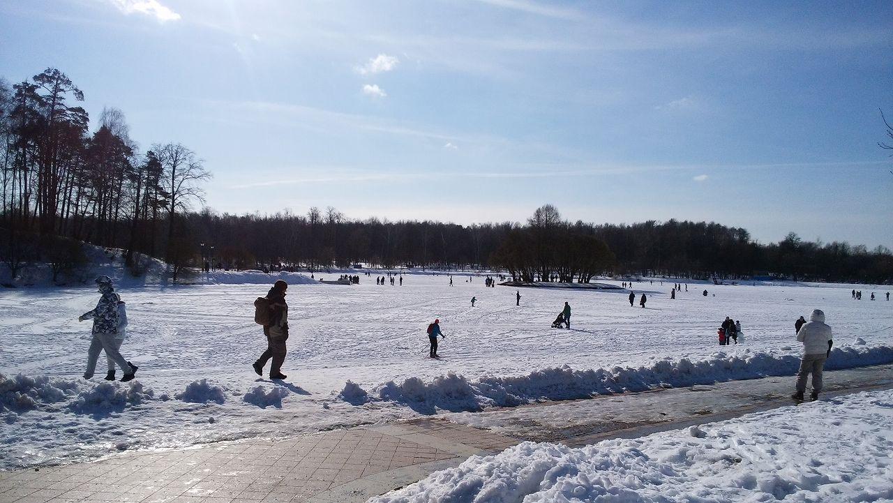 ツァリツィノ公園でアイススケート