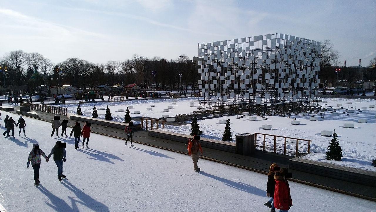 ゴーリキー公園でスケート