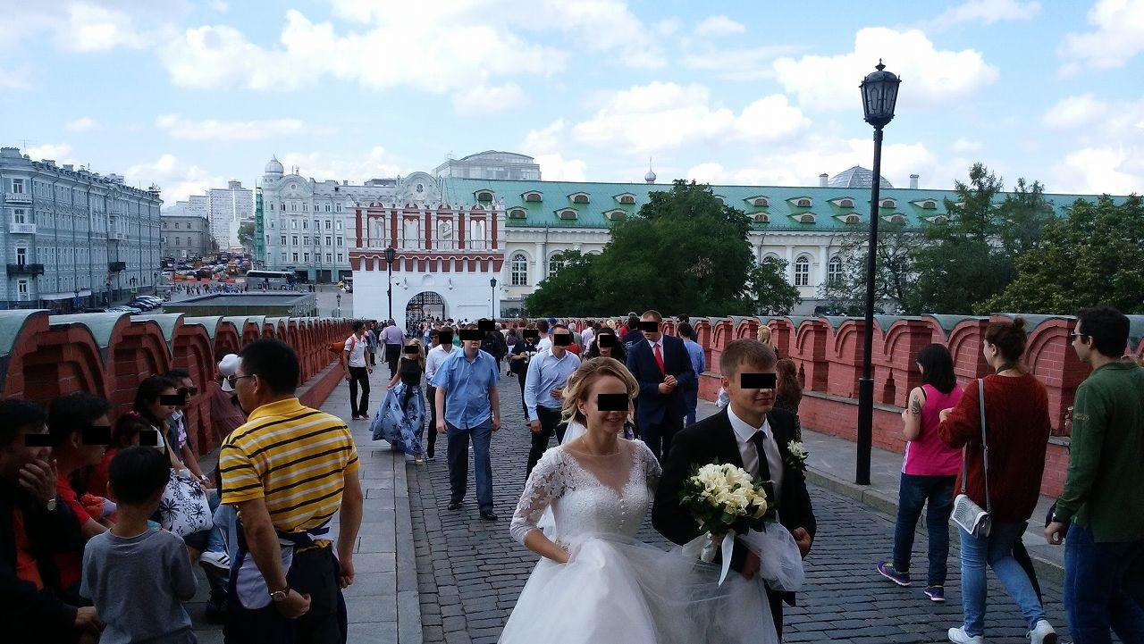 クレムリンで結婚式