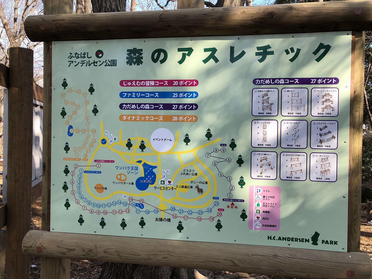 森のアスレチックマップ