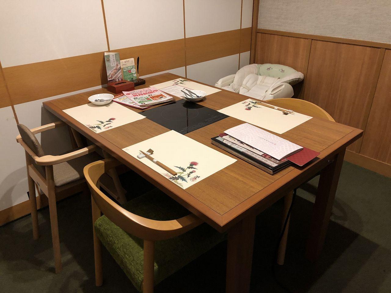 椅子の個室