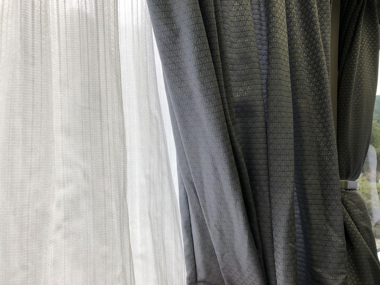 グリーン車のカーテン