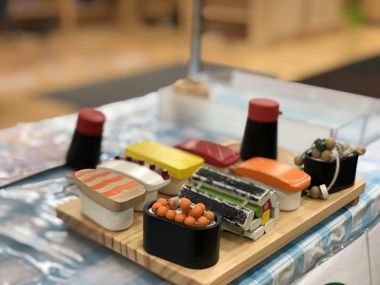 ごっこ遊びのお寿司