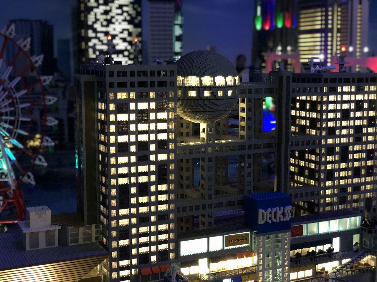 レゴで作ったお台場の夜景