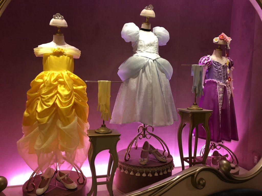 ディズニーランドのプリンセスドレス