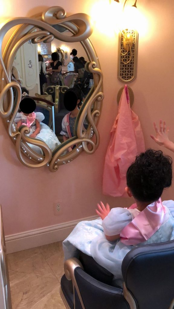 プリンセスドレスの練習