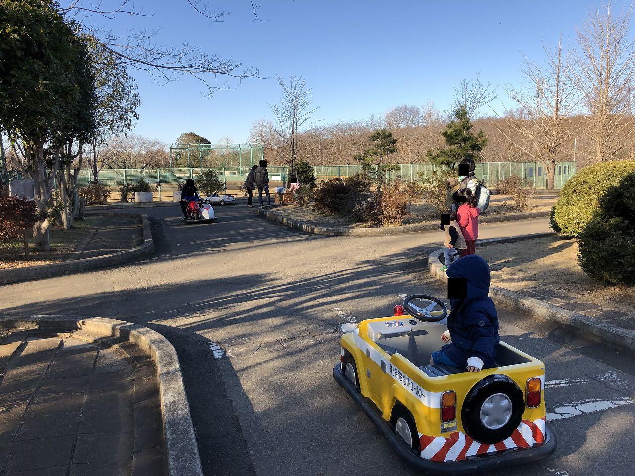鎌ヶ谷市制記念公園のコースが広い