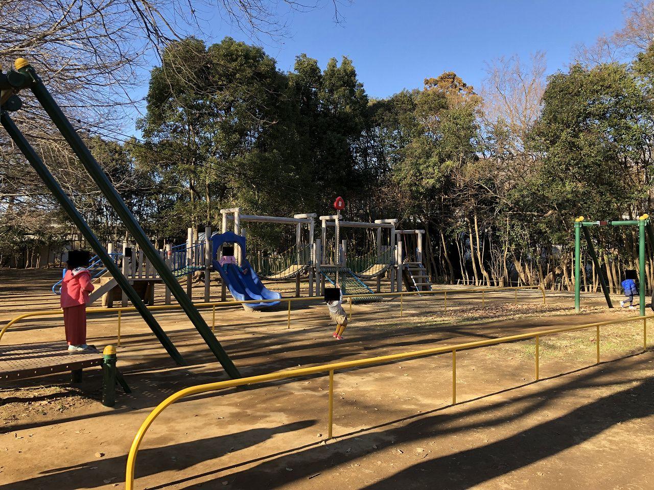 鎌ヶ谷市制記念公園のターザンロープ