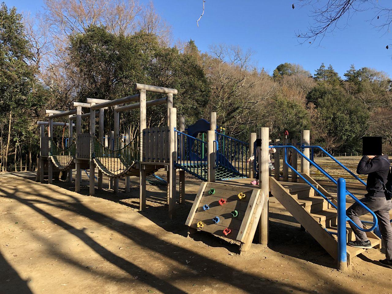 鎌ヶ谷市制記念公園のアスレチック