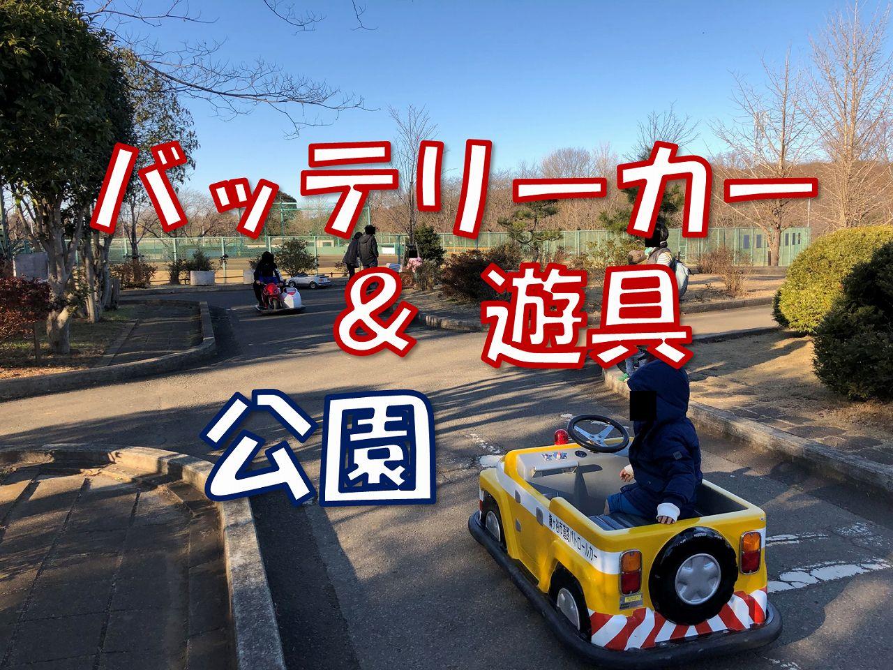 鎌ヶ谷市制記念公園のアスレチックがすごい!バッテリーカーも乗れる