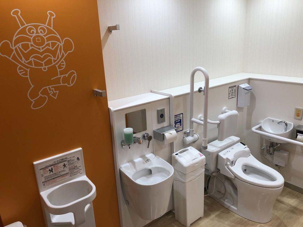 アンパンマンミュージアム横浜のトイレ